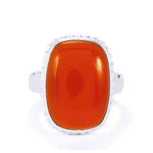 Carnelian Ring in Sterling Silver 11.99cts