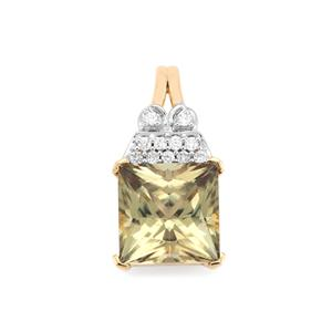 Csarite® Pendant with Diamond in 18K Gold 3.13cts