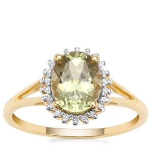 Csarite® Ring with Diamond in 9K Gold 2.11cts