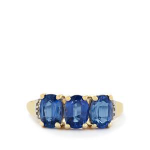 Sundar Kyanite & Diamond 10K Gold Ring ATGW 3.33cts