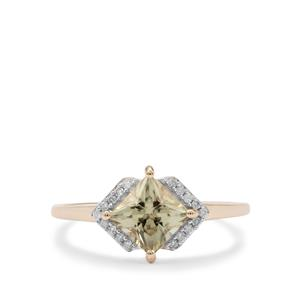 Csarite® Ring with Diamond in 9K Gold 1.30cts