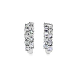 3.57ct Bi-Colour Tanzanite Sterling Silver Earrings