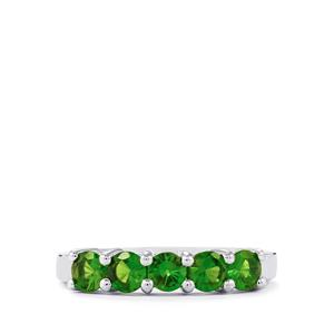 1.09ct Chrome Diopside Sterling Silver Ring