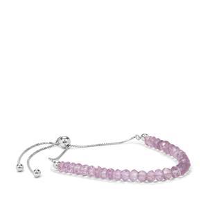 Rose De France Amethyst Bead Slider Bracelet in Sterling Silver 11.50cts