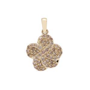 Argyle Diamond Pendant in 9k Gold 0.51ct