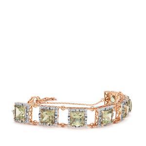 Csarite® & Diamond 18K Rose Gold Lorique Bracelet MTGW 15.49cts