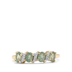 Alexandrite Ring with Diamond in 10K Gold 0.82ct