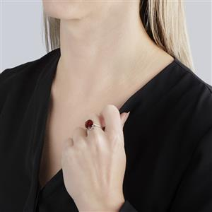 Hessonite Garnet Ring in Sterling Silver 5.64cts