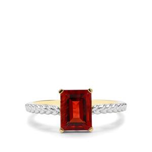 1.15ct Red Labradorite 9K Gold Ring