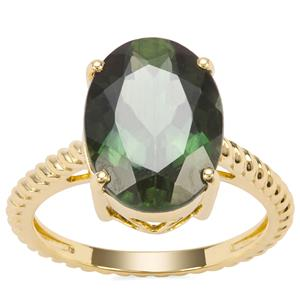 Mandrare Green Apatite Ring in 18K Gold 5.79cts
