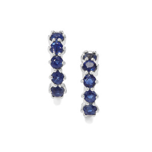 Nilamani Earrings in Sterling Silver 1.79cts