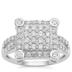 Argyle Diamond Ring in 9K White Gold 0.76ct