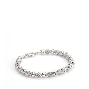 Sterling Silver Altro Italiano Beaded Bracelet 6.78g