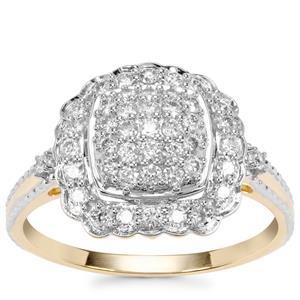 Argyle Diamond Ring in 9K Gold 0.53ct