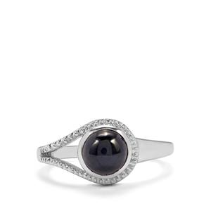 2.29ct Madagascan Blue Star Sapphire Sterling Silver Ring