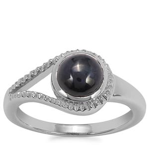 Madagascan Blue Star Sapphire Ring in Sterling Silver 2.29cts