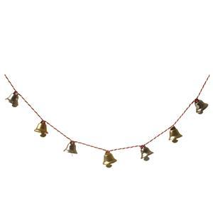 Christmas Bell Garland - Gold & Silver Bells 130cm