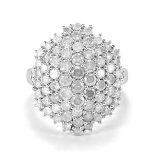 3.05ct Diamond Sterling Silver Ring