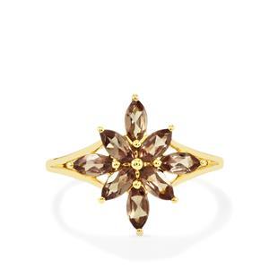 Bekily Color Change Garnet Ring in 10k Gold 1.32cts