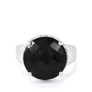 9.50ct Black Spinel Sterling Silver Ring