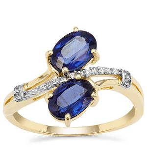 Nilamani Ring with White Zircon in 9K Gold 2cts