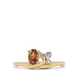 Tsivory Colour Change Garnet & Diamond 9K Gold Ring ATGW 0.56cts