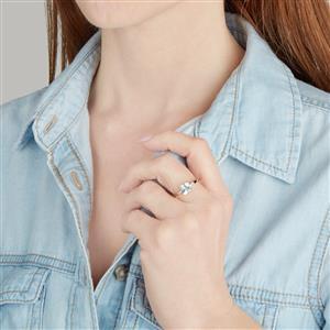 Espirito Santo Aquamarine & Diamond 10K Gold Ring ATGW 1.27cts
