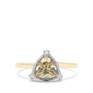 Csarite® & Diamond 9K Gold Ring ATGW 1.27cts