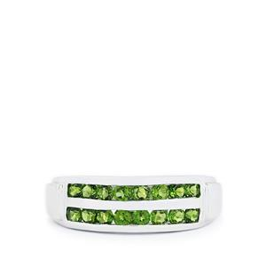 0.96ct Chrome Diopside Sterling Silver Ring