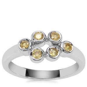 Ambanja Demantoid Garnet Ring in Sterling Silver 0.56ct