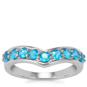 Neon Apatite Ring in Sterling Silver 0.79cts