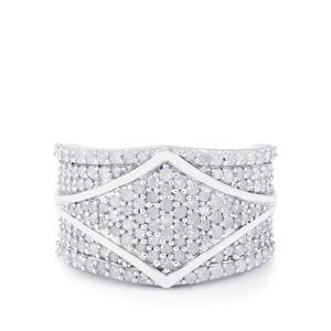 Diamond Ring in Sterling Silver 1.45cts