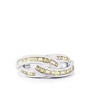 Natural Fancy Diamond Ring in Sterling Silver 0.49ct