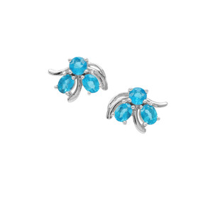 Neon Apatite Earrings in Sterling Silver 0.95ct