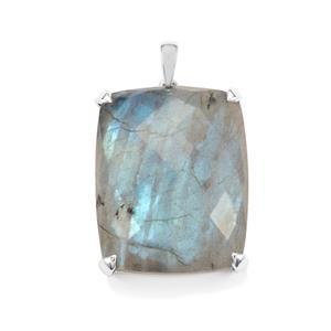 52.02ct Labradorite Sterling Silver Pendant