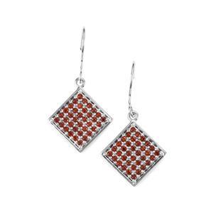 1.25ct Anthill Garnet Sterling Silver Earrings