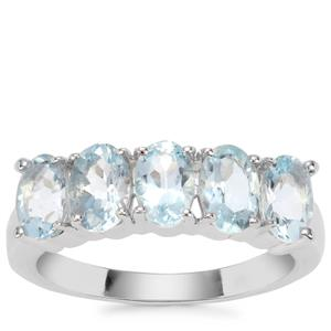 Pedra Azul Aquamarine Ring in Sterling Silver 2.05cts