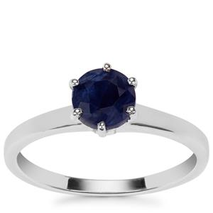 Blue Sapphire Ring in Sterling Silver 1.20cts