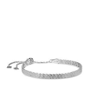 "10"" Sterling Silver Altro Mirror Slider Bracelet 6.11g"
