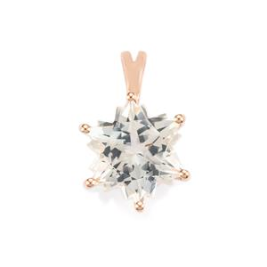 White Topaz Wobito Snowflake Pendant in 10K Rose Gold 5.50cts