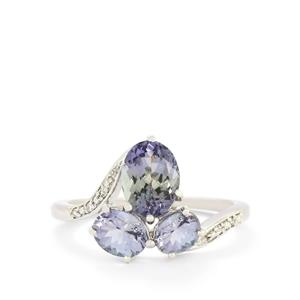 Bi-Color Tanzanite & Diamond 10K White Gold Ring ATGW 2.40cts