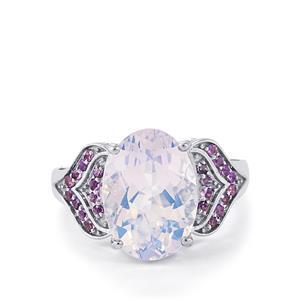 Rio Grande Lavender Quartz & Amethyst Sterling Silver Ring ATGW 5.87cts