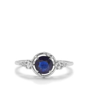 Nilamani Ring with White Zircon in 9K white Gold 1.14cts