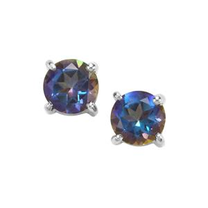 Mystic Blue Topaz Earrings in Sterling Silver 2cts