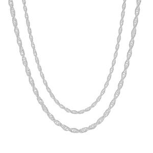 """18"""" Sterling Silver Couture Cordino Chain 3.19g"""