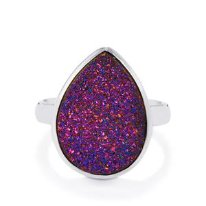 8.71ct Purple Drusy Sterling Silver Aryonna Ring
