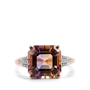 Anahi Ametrine Ring with Diamond in 9K Rose Gold 5.30cts