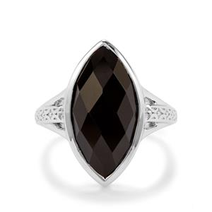 6.89ct Black Onyx Sterling Silver Couture Ring