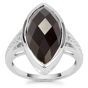Black Onyx Couture Ring in Sterling Silver 6.89cts