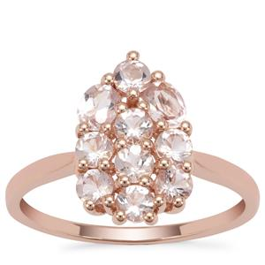 Cherry Blossom™ Morganite Ring in 9K Rose Gold 1.11cts